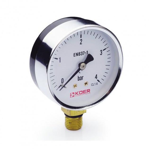 Манометр радиальный 0-4 bar Koer KM.610R D=63 мм 1/4''
