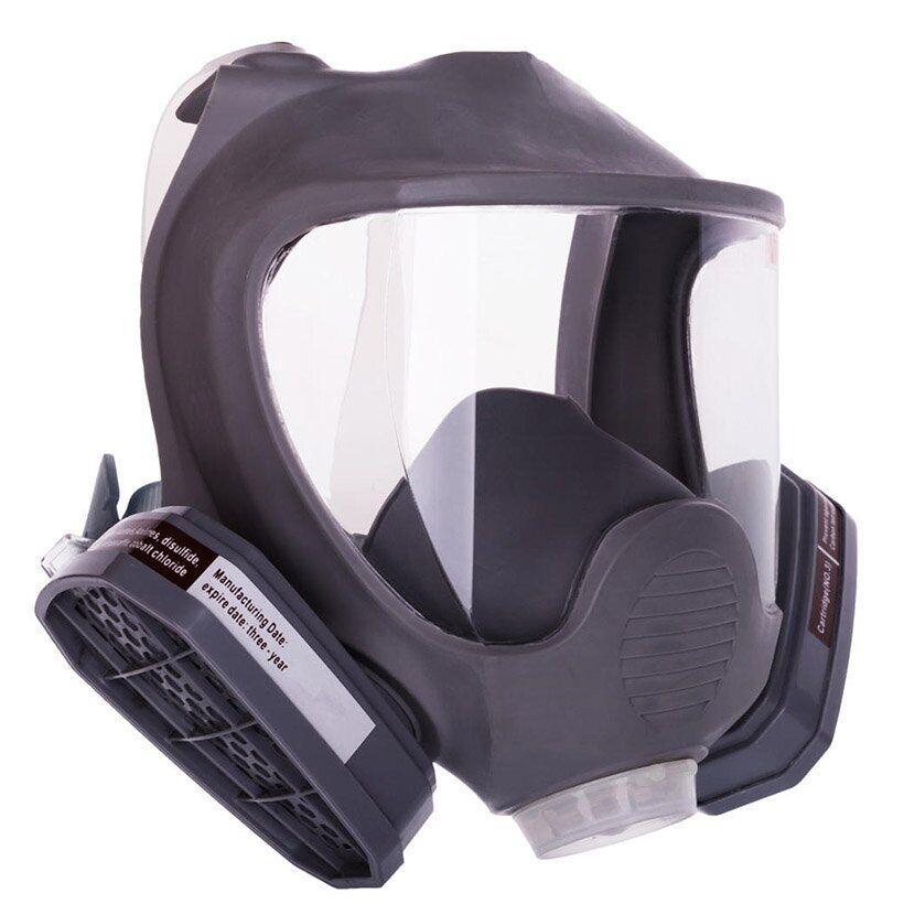 Полнолицевая маска Сталкер-3 - с двумя химическими угольными фильтрами марки А, резиновая оправа, крепление фильтров резьба | VTR (Украина) DR-0023