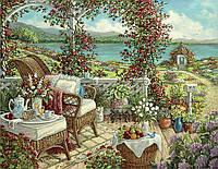"""Алмазная вышивка""""Отдых у моря"""", горы, цветы, сирень, полная выкладка ,мозаика 5d, наборы 30х40 см"""