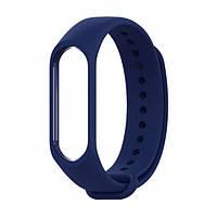 Ремешок для фитнес - трекера Xiaomi Mi Band 3/4 Темно - синий, фото 1