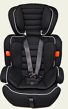 Автокресло AS0111 группа 1-2-3, черный, 9-36 кг, 5 точечный ремень безопасности
