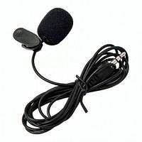 Петличный микрофон Y001 с креплением на одежду