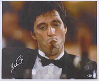 """Аль Пачино (""""Al"""" Pacino) автограф """"Scarface"""" 18x22 печать на холсте (Beckett COA)"""