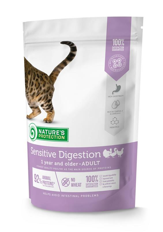 Корм для кошек SENSITIVE DIGESTION Nature's Protection 400 г