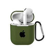 Чехол для AirPods/AirPods 2 silicone case with Apple Olive