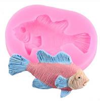 """Форма силиконовая """"Рыба"""" - размер молда 6*4,3см,3*6см"""