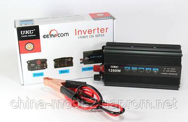 Преобразователь UKC AC/DC инвертор 1200W SSK 12V
