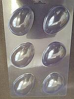 """Форма для шоколада""""Яйца"""" 6 шт. пластик Украина (код 06949)"""