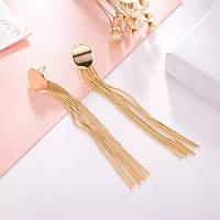Сучачні модні сережки китиці в стилі Bijoux Femme (золото)