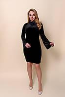 Елегантне жіноче приталену сукню чорного кольору. Розміри 44, 46. Хмельницький, фото 1