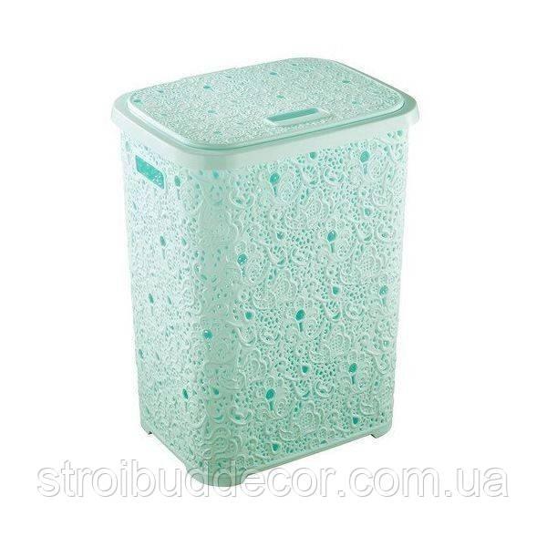 Корзина для белья Ажур Elif Plastik мятный 65 л