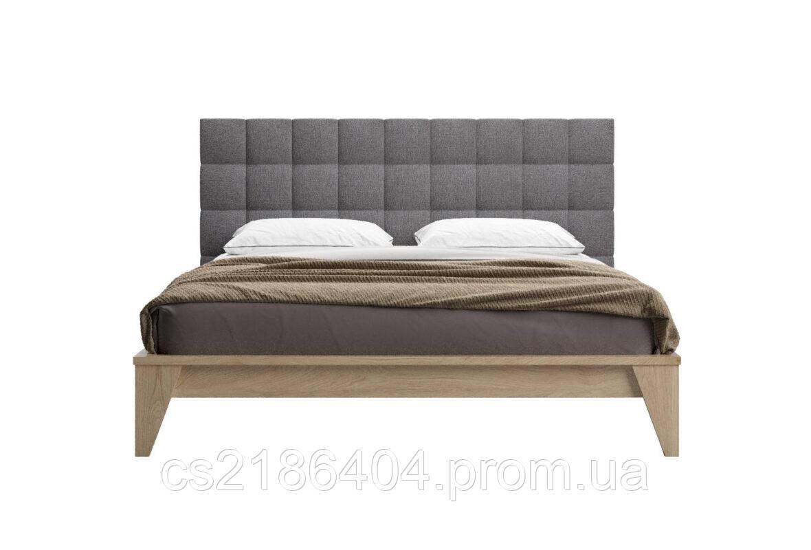 Дерем*яне двоспальне з м*яким билом ліжко 160х200 Шик Галичина Кайзер Скай