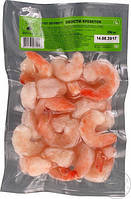 Хвосты креветок варено-мороженые очищенные глазированные 250 г