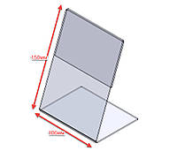 Ценникодержатель L-образный, вертикальный формата А6