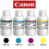 Комплект чернил ColorWay Canon MP230/250, iP2700, 4x200 мл (CW-CW520/CW521SET02), краска для принтера кэнон