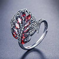"""Женское серебряное кольцо 3,57 грамм 925 пробы с кристаллами фианита """"Silver Elegance"""", фото 1"""
