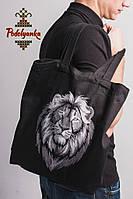 Еко-торба з вишивкою Лев, фото 1