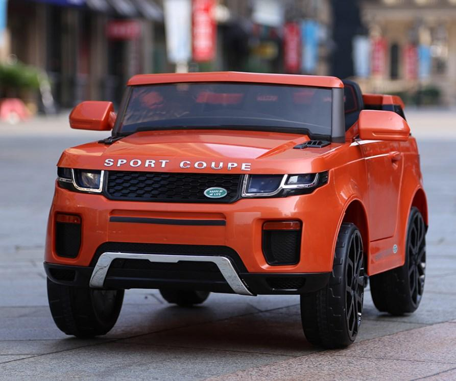 Детский электромобиль T-7832 Orange джип, Land Rover