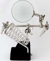 Третья рука держатель с лупой JM-506  2,5Х, фото 1