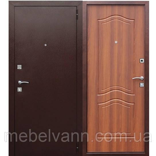 Входная дверь Dominanta Медный Антик/Рустикальный дуб