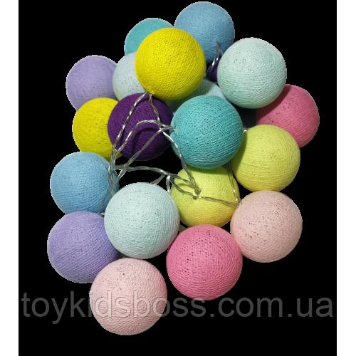 Гірлянда нитяна з 20 кольорових куль