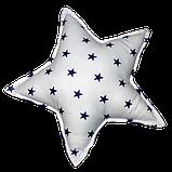 Подушка Хатка Звезда синяя с белым, фото 2