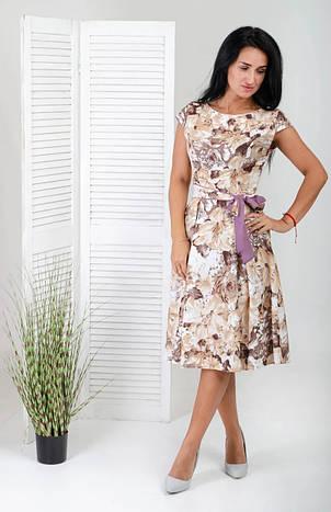 Красиве літнє плаття з квітами і горох, фото 2