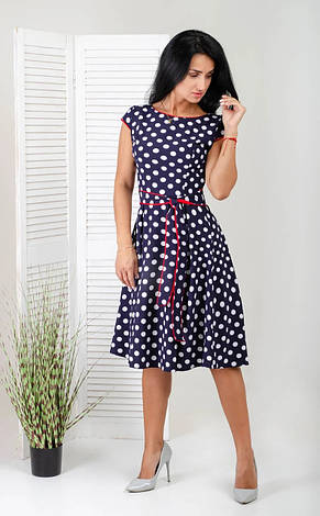 Красиве літнє плаття з квітами і горох, фото 3