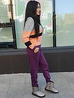 Прогулочный костюм теплый женский вязаный штаны и кофта весна 2020, фото 1