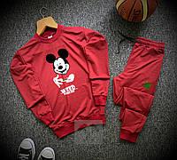 Мужской спортивный костюм Микки Маус красного цвета