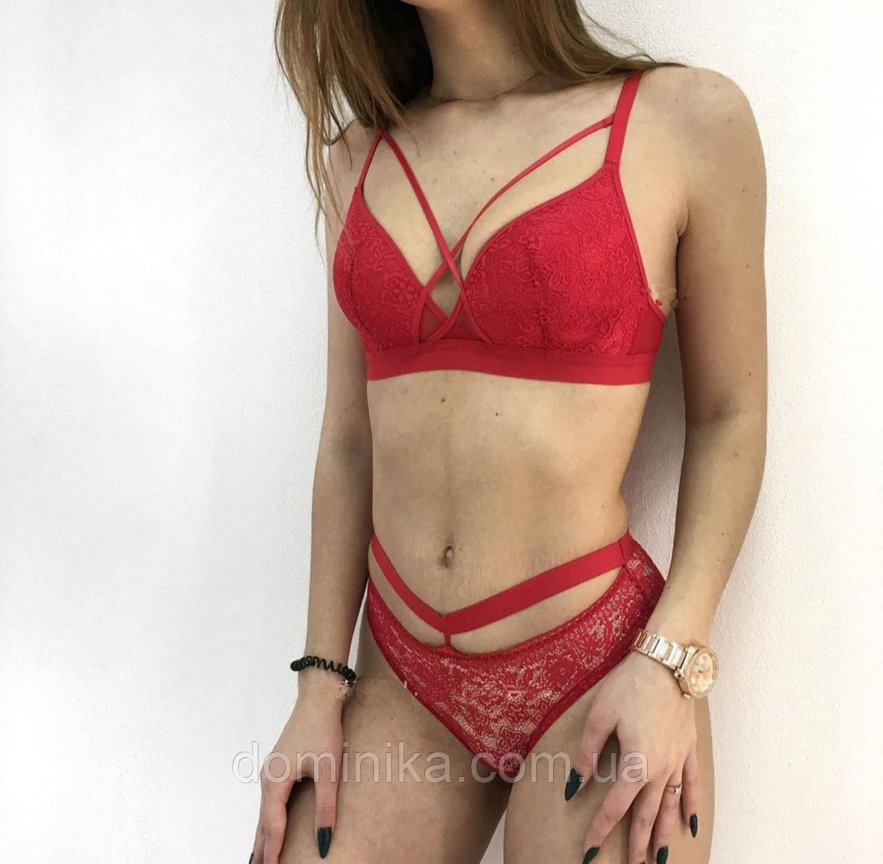 Нежное женское нижнее белье, без косточек ,красный ,размер 85В