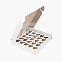 Упаковка для 25 міні-кексів і мафінів - Біла - 260х255х45 мм
