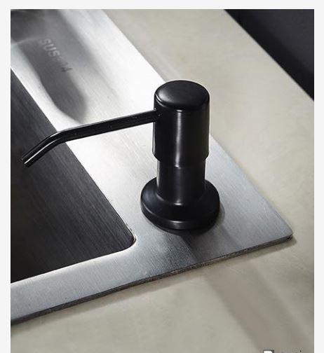 Дозатор для моющего средства мыла черный встраиваемый 0796