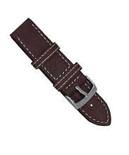 Ремешок кожаный мягкий,эластичный ручной работы размер 26 мм