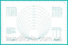 Коврик силиконовый с разметкой, размер 60 см.-40 см.