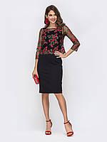 Платье женское нарядное цветы 40-60 размер