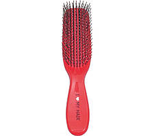 Щетка д/волос 1501RED красная 9 рядов глянцевая