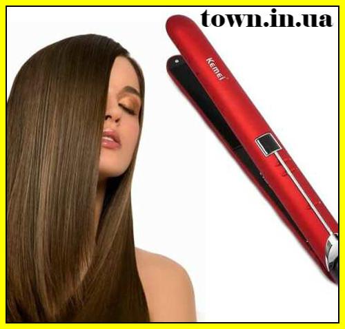 Утюжок выпрямитель для волос с терморегулятором Kemei KM-2205 | Щипцы | Плойка-утюжек