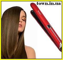 Утюжок выпрямитель для волос с терморегулятором Kemei KM-2205   Щипцы   Плойка-утюжек