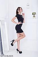 Жіноче плаття Подіум Vella 12713-BLACK S Чорний