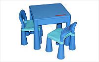 Детский столик и два стульчика Tega Mamut Blue голубой (TM001-03)