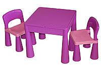 Столик и два стульчика Tega Mamut фиолетовый (TM001-05)