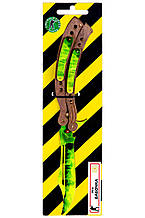 Нож-бабочка складной деревянный  Изумруд из игры Counter-Strike