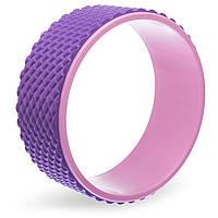 Колесо-кольцо для йоги массажное Record Fit Wheel Yoga, EVA, PP, р-р 33х14см, фиолетовый (FI-1749-(vl))