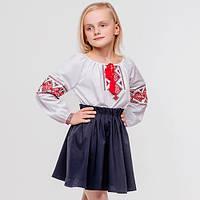 """Вышиванка для девочки """"Дівчина квітка"""" 140 см"""