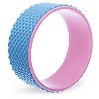 Колесо-кольцо для йоги массажное Record Fit Wheel Yoga, EVA, PP, р-р 33х14см, голубой (FI-1749-(lbl))