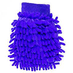 Рукавица для мытья авто Lesko 45-2A/008 Blue влажная сухая уборка мойка машины с микрофиброй
