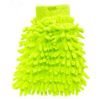 Рукавица для мытья авто Lesko 45-2A/008 Green влажная сухая уборка мойка машины с микрофиброй