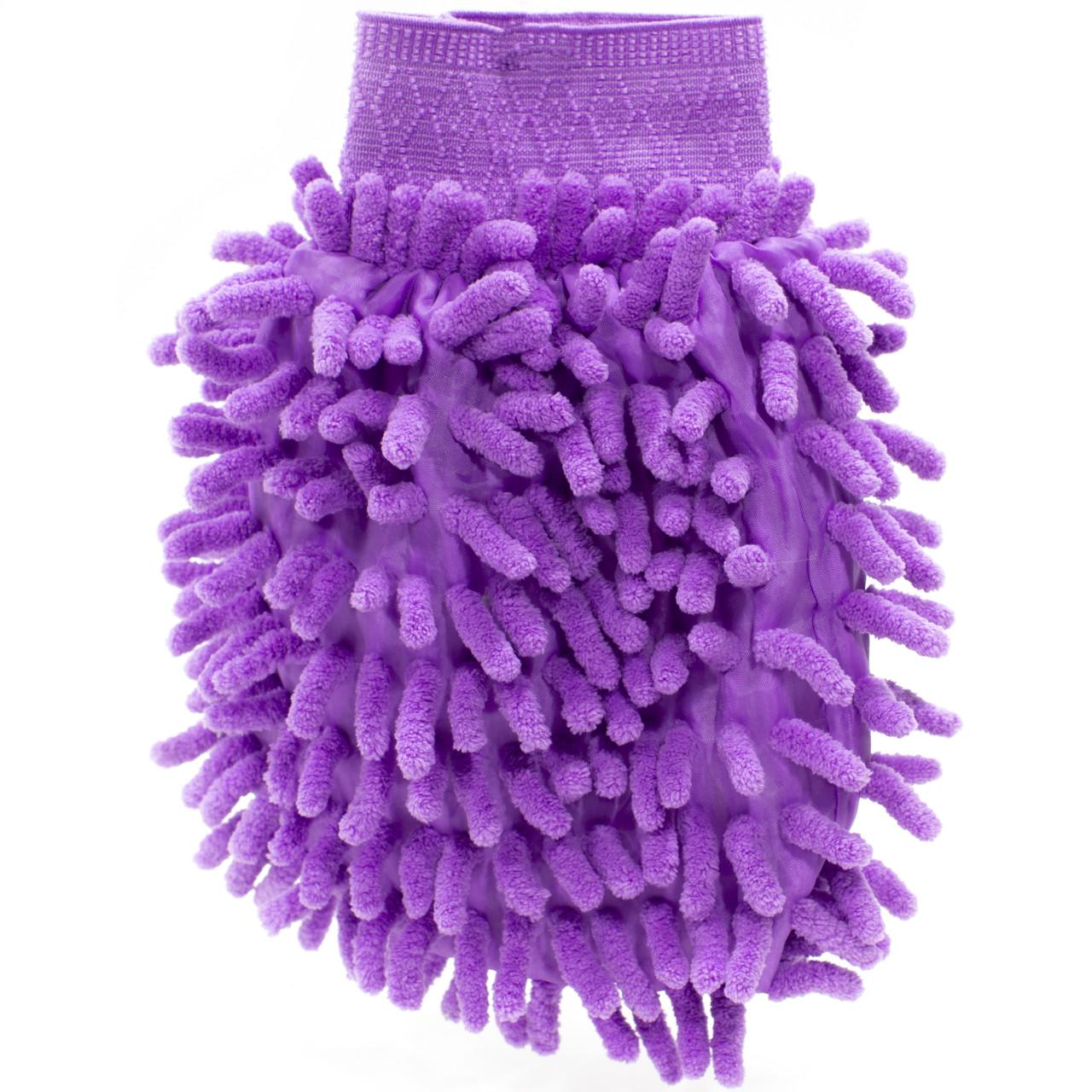 Рукавица для мытья авто Lesko 45-2A/008 Purple влажная сухая уборка мойка машины с микрофиброй