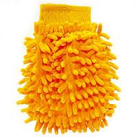 Рукавица для мытья авто Lesko 45-2A/008 Orange влажная сухая уборка мойка машины с микрофиброй